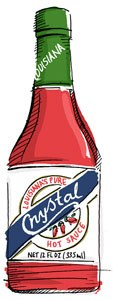kristal hot sauce illustration