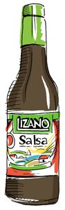 Lizano hot sauce illustration