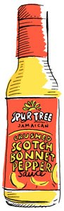 uitloper tree hot sauce illustration