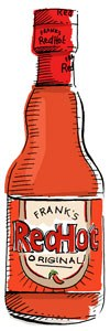 franks red hot sauce illustration