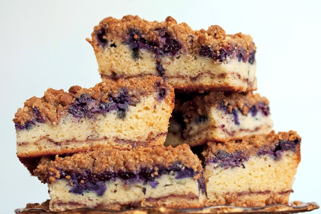 옛날의, 구식의 Blueberry Coffee Cake