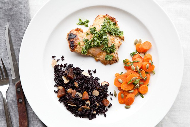 yogurt Chicken with Ginger-Coriander Chutney