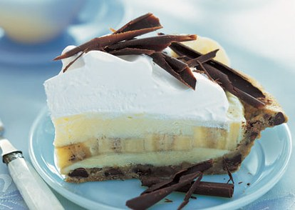 فرس banana cream pie with chocolate chip cookie crust h