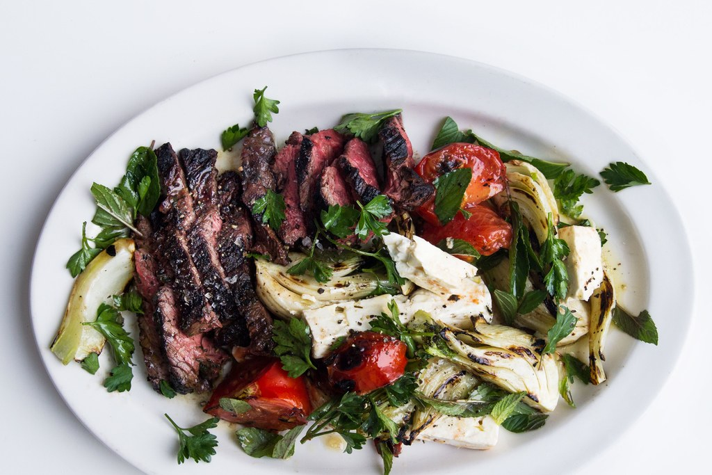 gegrild Hanger Steak with Fennel Salad