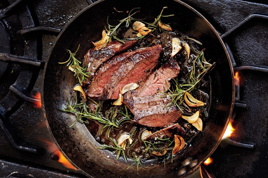 Knoflook-Rosemary Steak