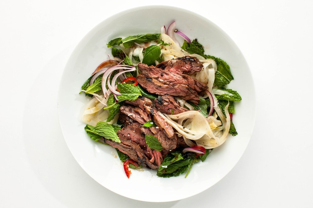 Rok Steak with Pickled Fennel Salad