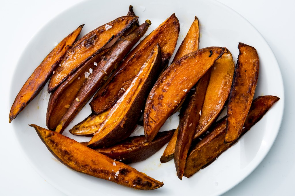 구운 것 Sweet Potatoes with Garlic and Chile