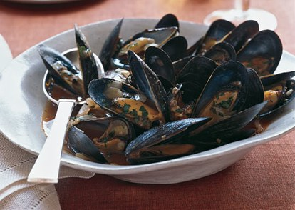 Mare mussels with tomatoes wine and anise h
