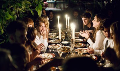 Haim-new-years-eve-party-dinner-table
