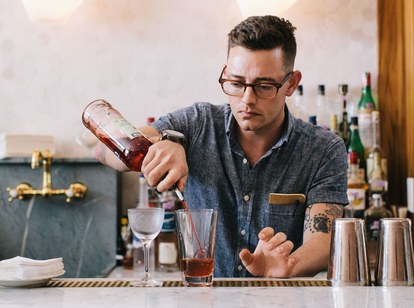 General manager Blake Pope can make you a cocktail and tell you about the best dive bar in town