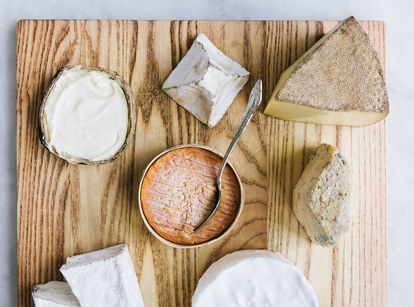 A selection from the tray of local and imported cheeses is a must for dessert