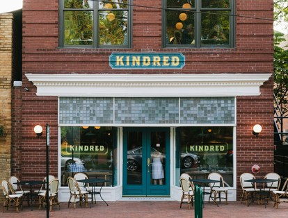 Kindreds received a grant from the city of Davidson to help restore the facade of the historic building