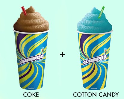 فحم الكوك cotton candy slurpee