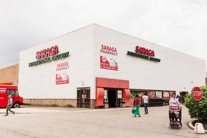 Saraga international grocery exterior