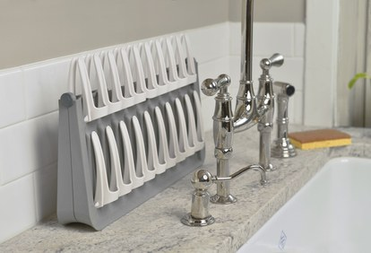 penuh circle dish rack sink