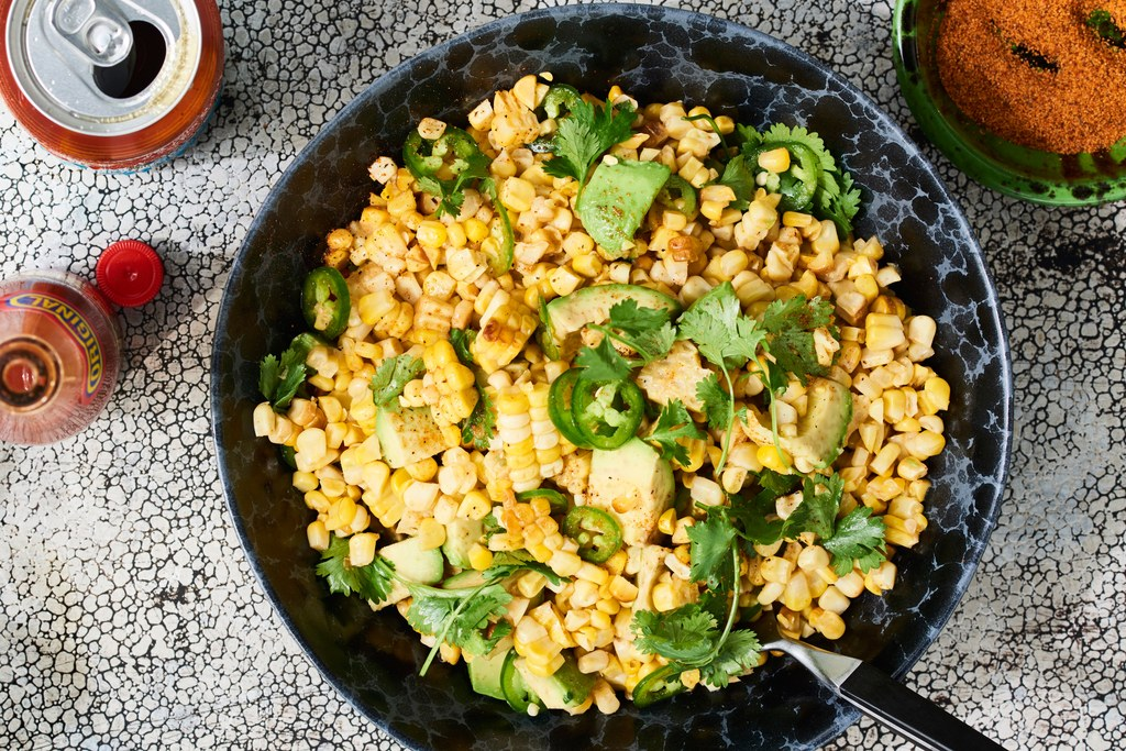 s roštilja Corn Salad with Hot Honey–Lime Dressing