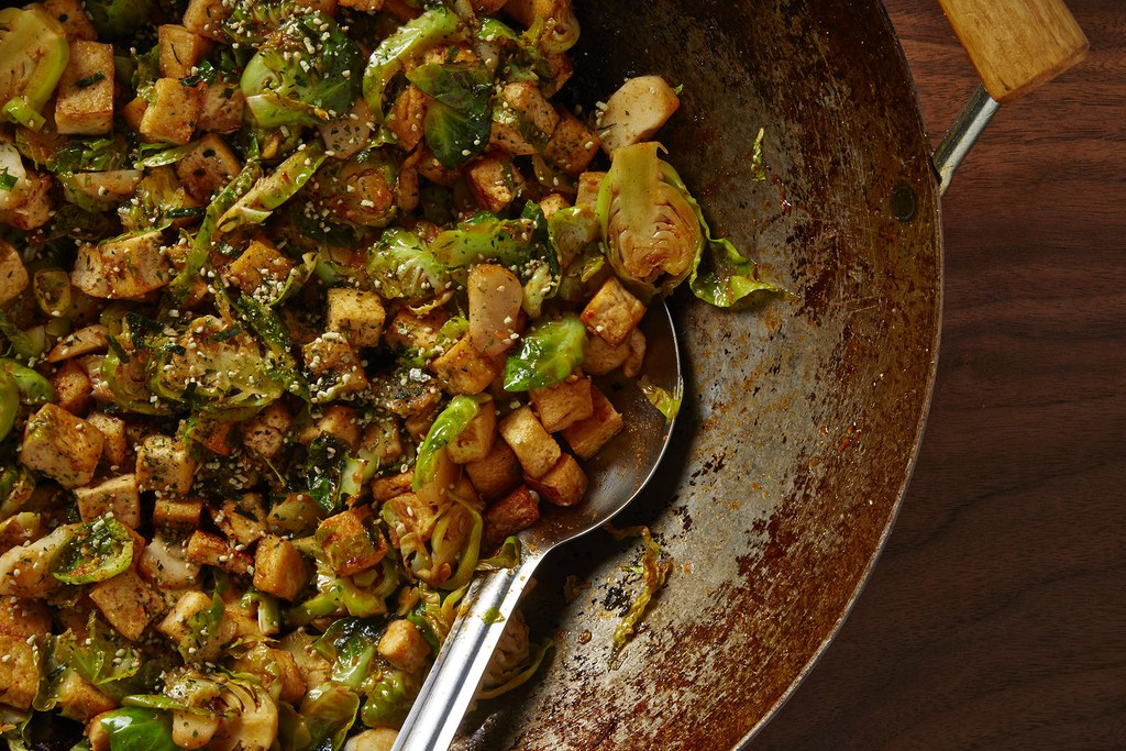 Brussels Sprouts and Tofu Stir-Fry
