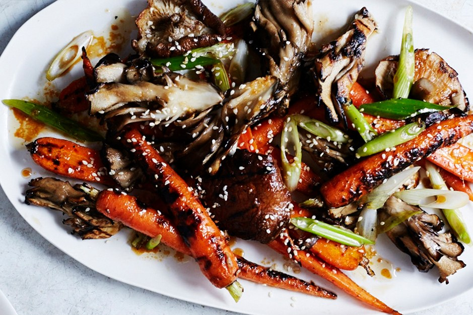 Panggang Mushrooms and Carrots with Sesame