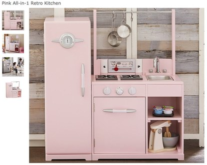 dijete kitchens pottery barn retro pink