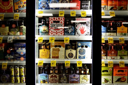 LITTLETON, CO - OCTOBER 20: Colorado state law allows one store per chain to sell 3.5% beer, wine and spirits, but alcohol companies are fighting to get their products on the shelves of every store. Safeway at South Broadway and Mineral in Littleton on Tuesday, October 20, 2015. (Photo by AAron Ontiveroz/The Denver Post)