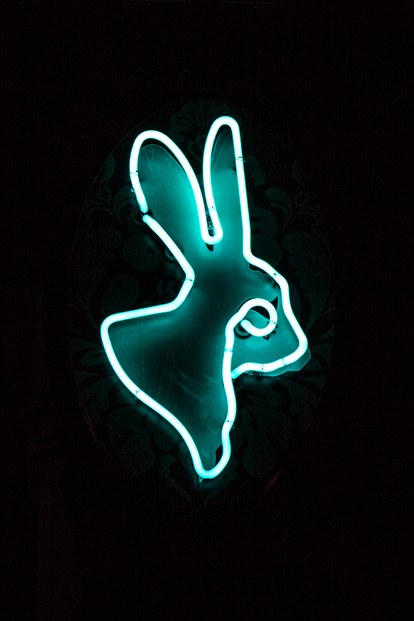 VELVETEEN RABBIT vegas interior rabbit sign