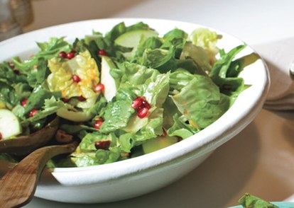 andijvie and butter lettuce salad with pomegranate seeds and hazelnuts 646
