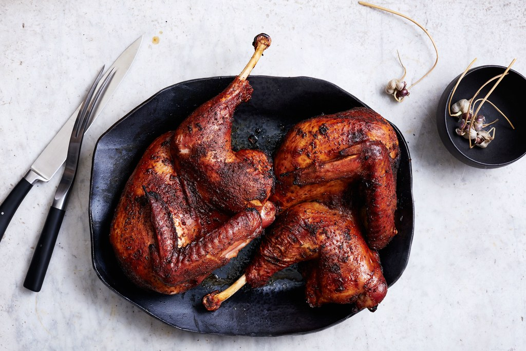 Barbekiu Spice–Brined Grilled Turkey